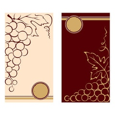Patterns for wine labels vector image vector image