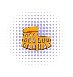 Roman colosseum icon comics style vector