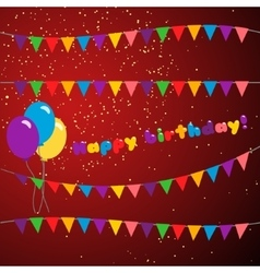 Set happy birthday vector image