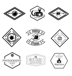 set of photography and logo templates vector image vector image