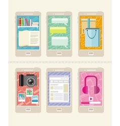 Smartphone icons vector image