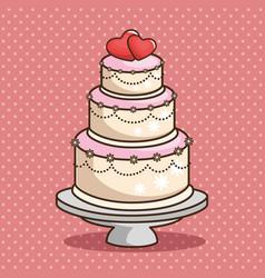 Stylish wedding cake vector