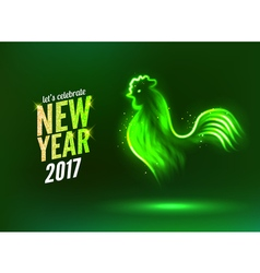 The rooster new year greeting card design template vector