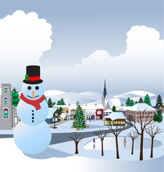 Christmas village vector