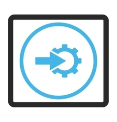 Cog integration framed icon vector