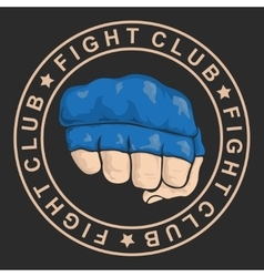 Emblem about fighting club monochrome graphic vector