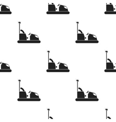 Bumper car icon in black style isolated on white vector