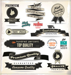 Quality vintage style labels vector