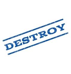 Destroy watermark stamp vector