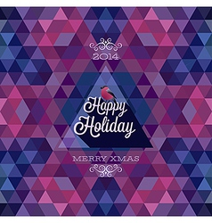 hipster Happy holiday dark2 vector image