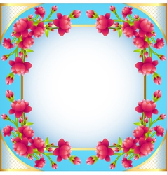 square frame background with flowering vector image