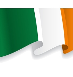 Background with waving irish flag vector