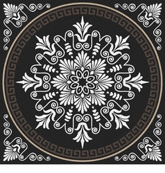 White greek ornament meander vector