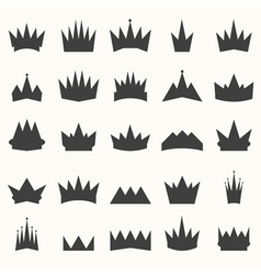 Crown icons set heraldic design elements vector