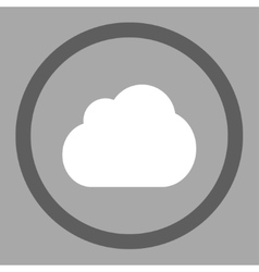 Cloud flat dark gray and white colors rounded vector