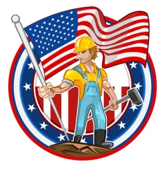 American worker labor day vector