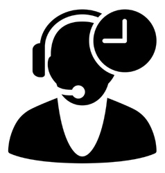 Operator time icon vector