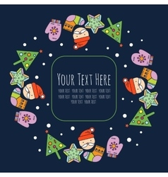 Christmas frame template card background vector image