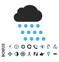 Rain Cloud Flat Icon With Bonus vector image