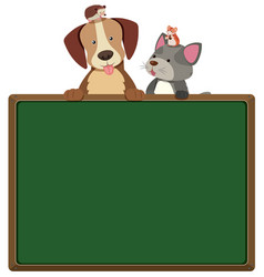 Border template with cute pets vector