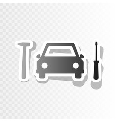 Car tire repair service sign new year vector