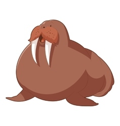 Cartoon smiling walrus vector