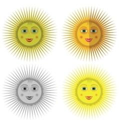 Cartoon sun icons vector