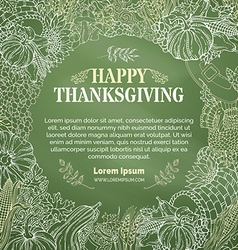 Chalk thanksgiving background vector