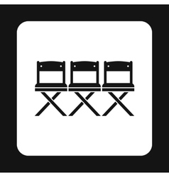 Cinema seats icon simple style vector image