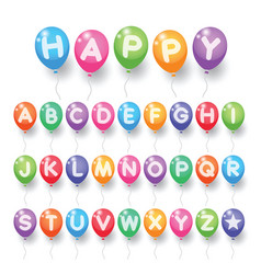 Colorful alphabet letter balloons vector