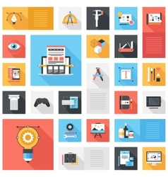 Design and Development Icons vector image vector image