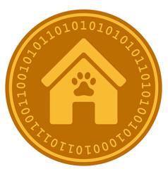 Doghouse digital coin vector