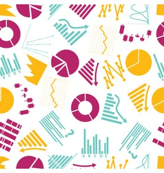 Graphs icons seamless color pattern eps10 vector