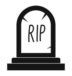 Grave icon black simple style vector