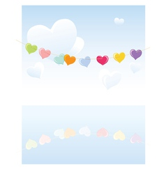 hearts on a rope vector image