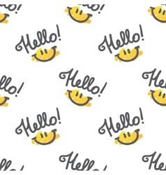hello pattern vector image