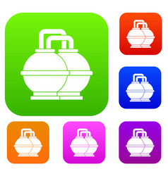 industrial tanks for petrol and oil set color vector image