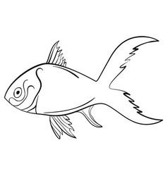 ink sketch fish vector image vector image