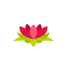 Lotus flower icon in flat style vector image