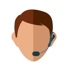 Operator man avatar customer service vector