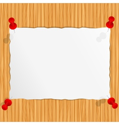 Paper on the wooden wall vector