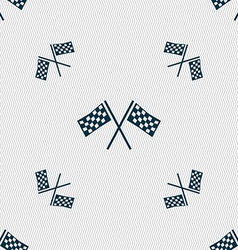 Race flag finish icon sign seamless pattern with vector