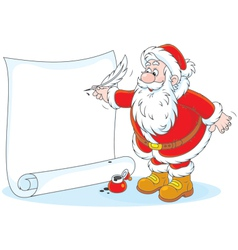 Santa claus writing vector