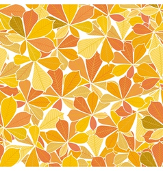 seamless pattern from autumn leaves vector image vector image