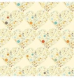 Splatter hearts seamless surface pattern vector image