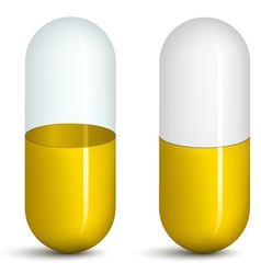 yellow pills vector image vector image