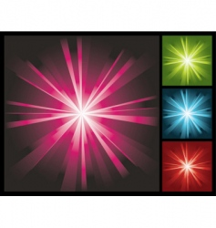 Abstract lights background with sunburst vector