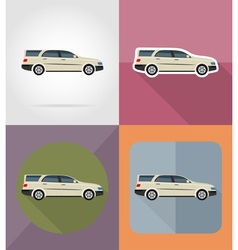 Transport flat icons 02 vector