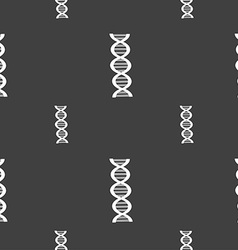 Dna sign seamless pattern on a gray background vector