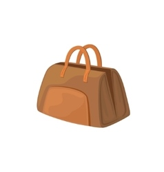 Open leather female purse item from baggage bag vector